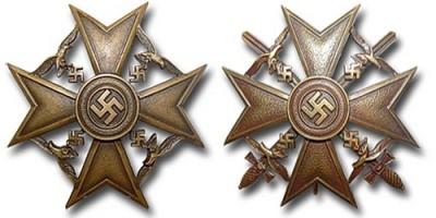 Испанский крест в бронзе
