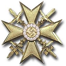 Испанский крест в золоте с бриллиантам