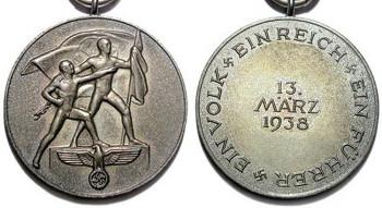 Аверс и реверс медали «В память 13 марта 1938 года» (Медаль первого Аншлюсса)