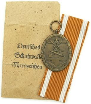 Медаль за сооружение Атлантического вала с пакетом
