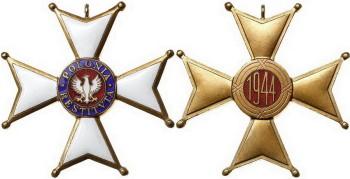 Аверс и реверс ордена Возрождения Польши - Польский Комитет национального освобождения.