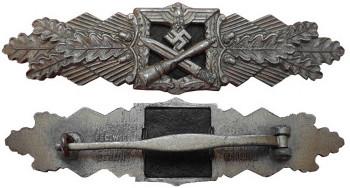 Аверс и реверс планки сухопутных войск «За ближний бой».