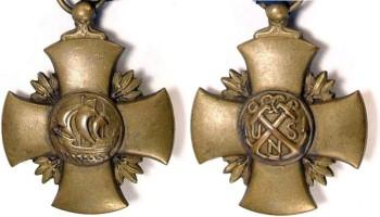 Аверс и реверс Креста Военно-морских сил США.