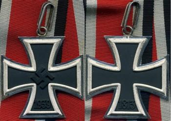 Аверс и реверс Рыцарского креста Железного креста.