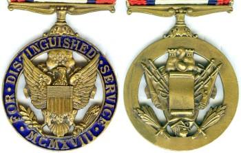 Аверс и реверс армейской медали «За выдающиеся заслуги».