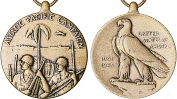 Аверс и реверс медали Азиатско-Тихоокеанской компании.