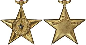 Аверс и реверс медали Серебряная Звезда.