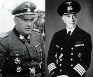 Группенфюрер СС Одило Глобочник и адмирал Пауль Мейкснер - единственные награждённые обеими Германскими крестами в золоте и серебре.