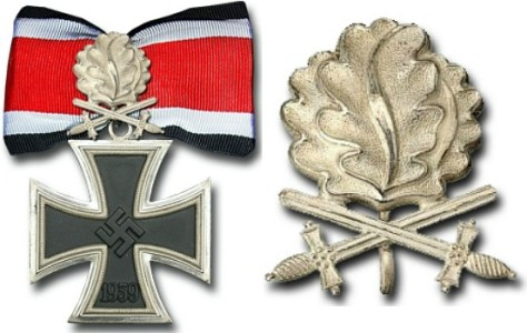 Рыцарский крест Железного креста с Дубовыми Листьями и Мечами