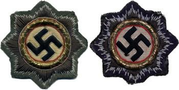Шитая версия Ордена Немецкого Креста для ношения на полевой форме.