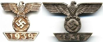 Награды Третьего рейха - Шпанга повторного награждения к Железному кресту 2 и 1 класса