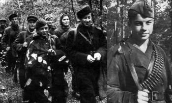 """Вася Коробко (1928-1944) - пионер-герой, юный партизан, награждён орденами Ленина, Красного Знамени, Отечественной войны 1 степени, медалью """"Партизану Отечественной войны"""" I степени."""
