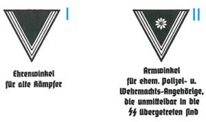 Ärmelstreifen und -abzeichen der SS