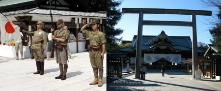 Храм Ясукуни (靖国神社 - yasukuni jinja) представляет собой интереснейший музей японской военной истории. Основан в 1869 году. Святилище посвящено всем , кто погиб на войне, сражаясь во имя Императора Японии. В этом храме поклоняются душам погибших воинов. Считается, что именно здесь живут души погибших на войне.